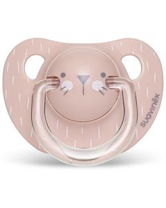 Suavinex Πιπίλα Σιλικόνης Ανατομική Hygge Whiskers Pink 6-18m, 1τμχ