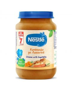 Nestle Παιδική Τροφή με Κοτόπουλο και Λαχανικά από 7 Μηνών, 190gr