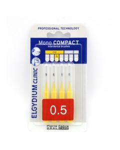 Elgydium Mono Compact Yellow (0,5) Μεσοδόντια Βουρτσάκια, 4τμχ