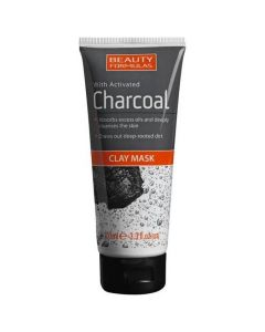 Beauty Formulas Activated Charcoal Clay Mask, 100ml