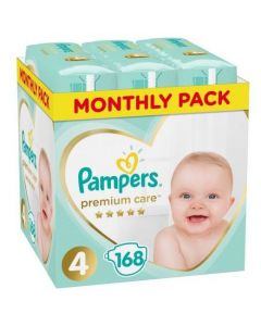 Pampers Monthly Pack Premium Care No4 (9-14kg), 168τμχ