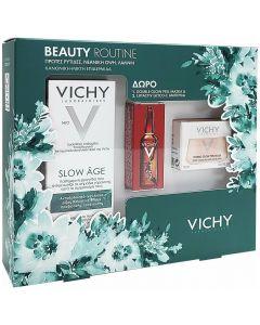 Vichy Beauty Routine Slow Age Fluid SPF25, 50ml & ΔΩΡΟ Liftactiv Glyco-C Night Peel, 2ml & ΔΩΡΟ Mask Peel Double Eclat, 15ml