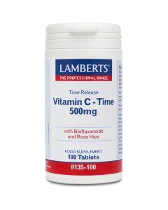 Lamberts Vitamin C – Time Release 500mg, 100tabs