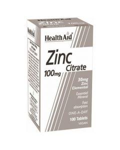 Health Aid Zinc Citrate 100mg, 100tabs