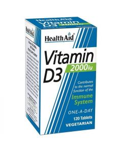 Health Aid Vitamin D3 2000iu, 120veg.caps