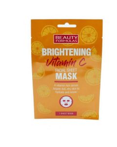 Beauty Formulas Vitamin C Facial Sheet Mask, 1τμχ