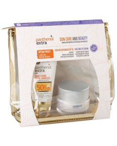 Panthenol Extra Promo Sun Care Diaphanous Face Gel SPF50 50ml & Face And Eye Cream 50ml