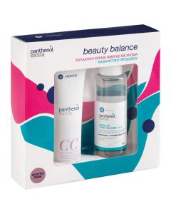 Panthenol Extra Beauty Balance Day Cream CC Σκούρο SPF15 50ml & Micellar True Cleanser 3 In 1, 100ml