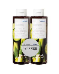 Korres Cucumber Bamboo Renewing Body Cleanser, 2x250ml