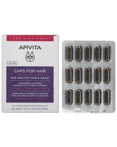 Apivita Caps For Hair Hippophae, Zinc & Biotin, 30 κάψουλες