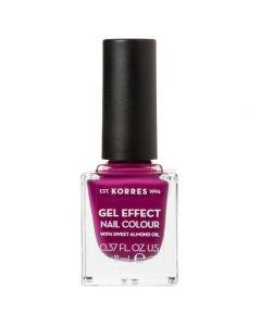 Korres Gel Effect Nail Colour No.72 Cherry Brandy Rose, 11ml