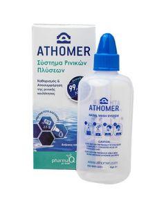 ATHOMER Nasal Wash System Φιάλη 250ml & 10 φακελάκια αλατιού x 2.5gr