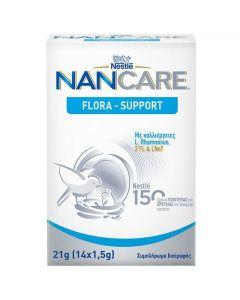 Nestle NanCare Flora-Support Συμπλήρωμα Διατροφής με Καλλιέργειες L.Rhamnosus, 2'FL & LNnT, 21g (14x1,5gr)