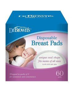 Dr.Brown's Επιθέματα Στήθους Μιας Χρήσης, 60τμχ