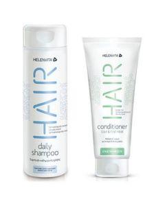 Helenvita Promo Hair Daily Shampoo Σαμπουάν Για Καθημερινή Χρήση 300ml & Hair Conditioner Oily & Fine Hair Μαλακτική Κρέμα 200ml
