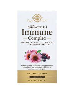 Solgar Ester-C Immune Complex Συμπλήρωμα Διατροφής με Βιταμίνη C για την Καλή Υγεία του Ανοσοποιητικού Συστήματος, 60softgels