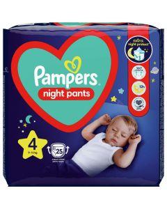 Πάνες Pampers Night Pants Νο4 (9-15kg), 25τεμ
