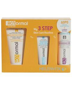 Helenvita Promo Acnormal My 3 Step Skin Care Routine Rebalancing Emulsion 60ml, Cleansing Gel 50ml και Purifying Facial Mask 20ml