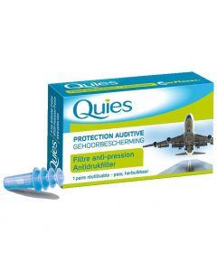 Pharmaq Quies EarPlanes Ωτοασπίδες Ενηλίκων ειδικές για Αεροπορικά Ταξίδια, 1 ζευγάρι