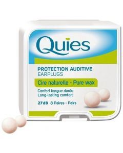 Pharmaq Quies Earplugs Pure Wax Ωτοασπίδες μιας Χρήσης από Φυσικό Κερί, 8 ζευγη