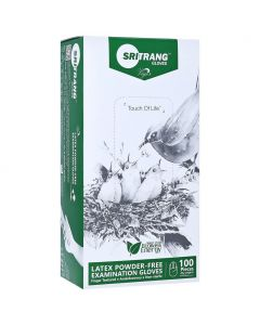 Sritrang latex powder-free gloves Large, 100 τμχ