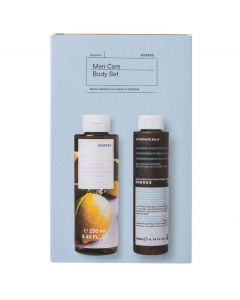 Korres Men Care Body Set Αφρόλουτρο Βασιλικός - Λεμόνι, 250ml & Aftershave Balm Καλέντουλα- Ginseng, 200ml