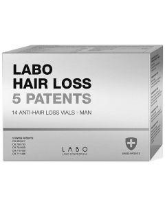 Labo Hair Loss 5 Patents Man Anti Hair Loss, 14vials x 3.5ml