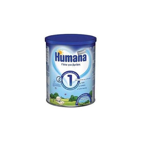 Humana Optimum 1 Βρεφικό Γάλα, απο τη Γέννηση εως τον 6ο μήνα, 350gr