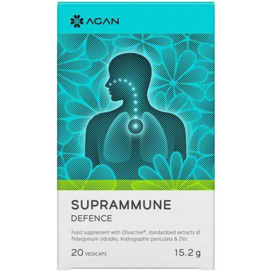 Agan Suprammune Defence Συμπλήρωμα Διατροφής για τα Συμπτώματα του Κρυολογήματος, 20 vegicaps