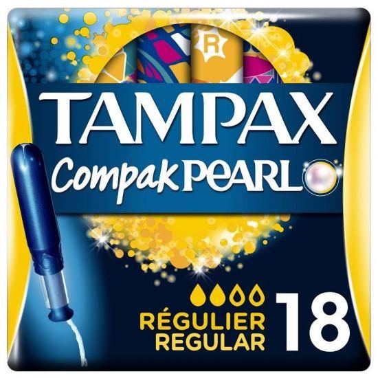 Tampax Pearl Regular Ταμπόν Υψηλής Απορροφητικότητας, 18 τεμάχια