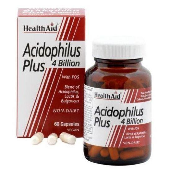 Health Aid Acidophilus Plus 4 bilion, 60caps