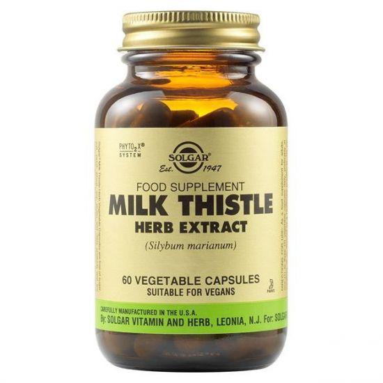 Solgar Milk Thistle Herb Extract, 60veg.caps