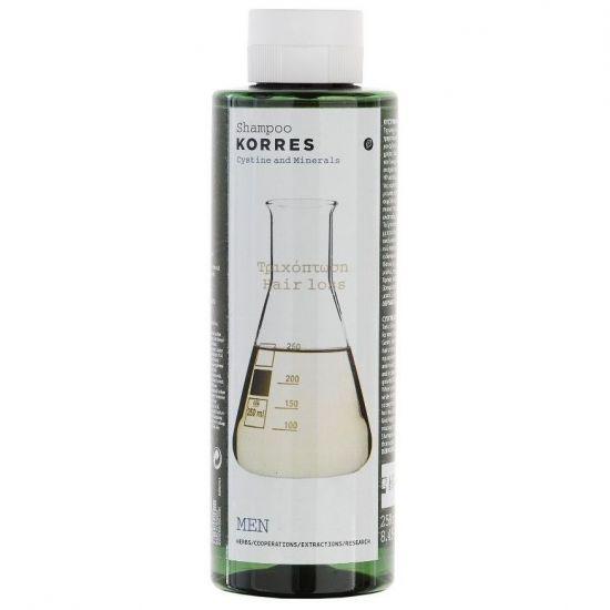Korres Shampoo Hairloss Σαμπουάν Τριχόπτωσης Κυστίνη & Ιχνοστοιχεία Για Τους Άντρες 250ml