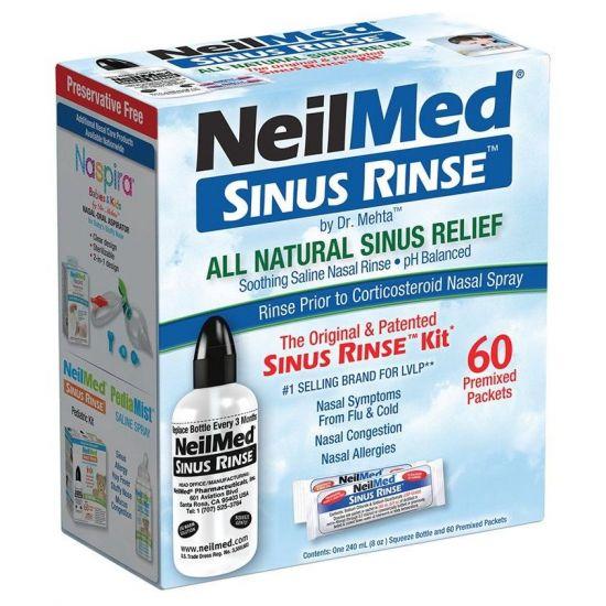NeilMed Sinus Rinse Original Kit, 1συσκευασία + 60φακελάκια
