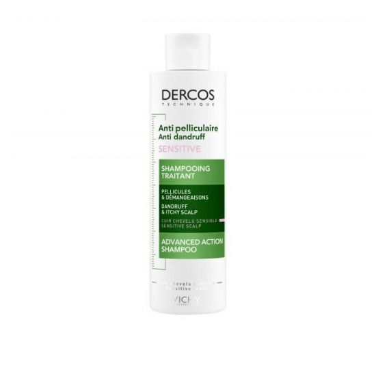 Vichy Dercos Anti Dandruff Shampoo Sensitive Hair Σαμπουάν για την Ρύθμιση της Ξηροδερμίας & της Πιτυρίδας, 200ml