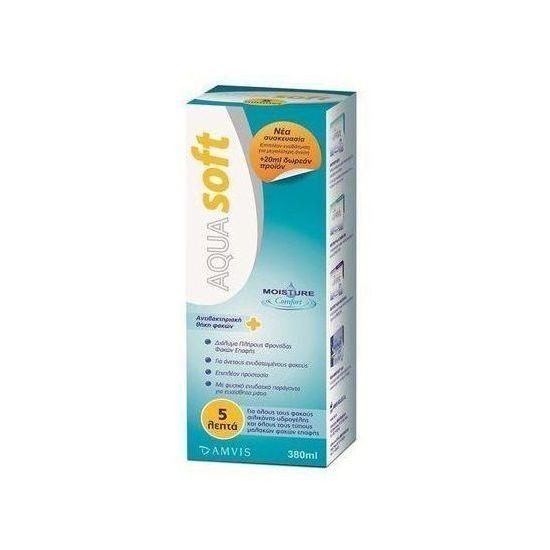 AQUA Soft, AquaSoft Πλήρες Διάλυμα Φακών Επαφής, 380 ml