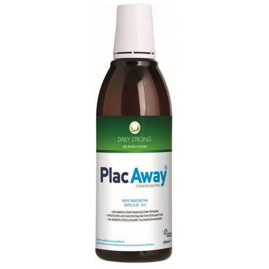 Plac Away Daily Strong Δυνατό Στοματικό Διάλυμα με Δροσερή Γεύση Δυόσμου, 500ml