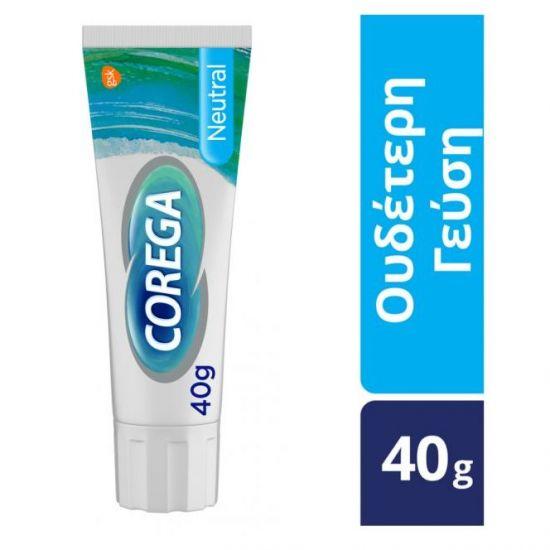 Corega 3D Hold Neutral Στερεωτική Κρέμα Οδοντοστοιχιών, με ουδέτερη γεύση, 40gr