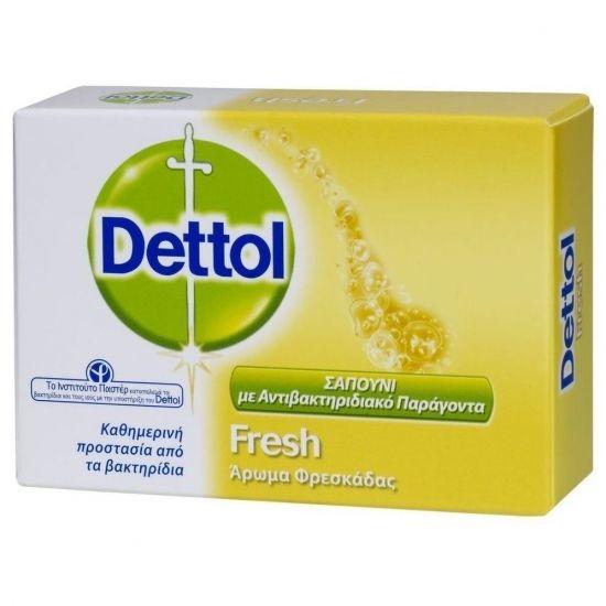 Dettol Fresh Αντιβακτηριδιακό Σαπούνι Με Άρωμα Φρεσκάδας 100g