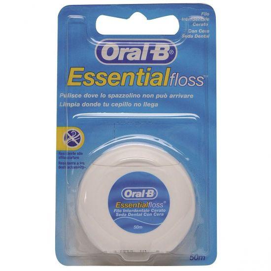 ORAL-B Essential Floss Κηρωμένο Οδοντικό Νήμα Χωρίς Γεύση, 50m