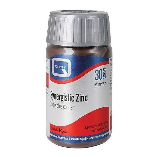 Quest Synergistic Zinc 15mg with copper, 30tabs