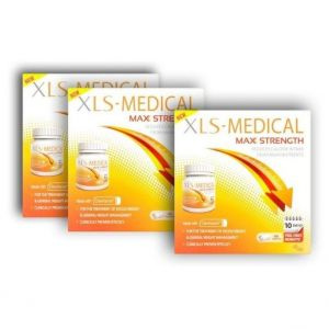 XLS Medical Max Strength (2+1 ΔΩΡΟ) Φόρμουλα για τον Έλεγχο Σωματικού Βάρους, 3x40 caps