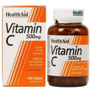 Vitamin C 500mg 100 Μασώμενες Ταμπλέτες