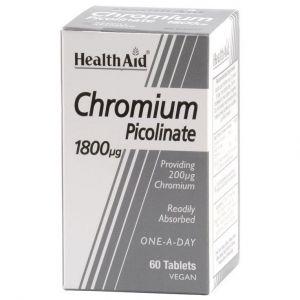 Health Aid CHROMIUM Picolinate 1800 mg, 60tabs