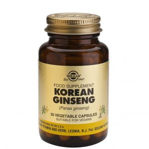 Solgar Korean Ginseng (Panax) για Ενέργεια & Τόνωση του Οργανισμού, 50veg.caps