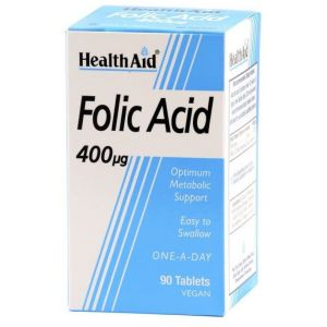 Health Aid FOLIC ACID 400mg, ΦΟΛΙΚΟ ΟΞΥ, 90 ταμπλέτες