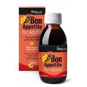 Inoplus Bon Appetite for Adults, Τονωτικό Σιρόπι Όρεξης με Βασιλικό Πολτό, 150ml