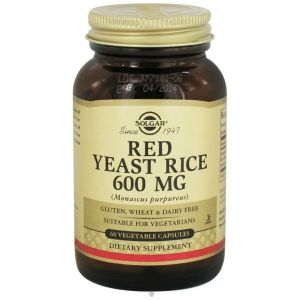 Solgar Red Yeast Rice Extract 600mg, 60caps