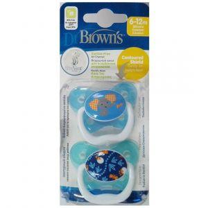 Dr. Brown's Prevent PV 22402 Πεταλούδα 6-12m Χρώμα Γαλάζιο, 2τμχ