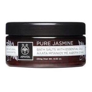 Apivita Pure Jasmine, Άλατα Μπάνιου Γιασεμί & με Αιθέρια Έλαια, Τόνωση & Αναζωογόνηση 250gr